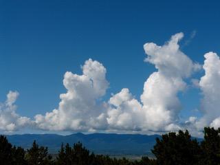White Clouds in Colorado Blue Sky