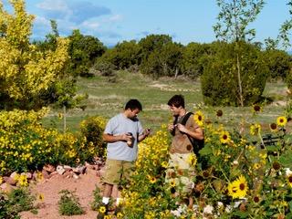 Dennis Cordova and Nathan Halpin at a shoot at Adobeland.