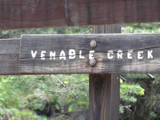 Wooden Sign Venable Creek Colorado